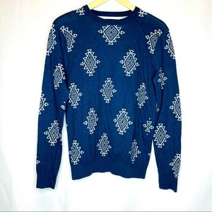 21men Aztec Print Sweater Size XS Men's